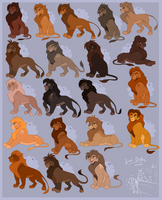 Male Adult TLK Style lion adoptables!