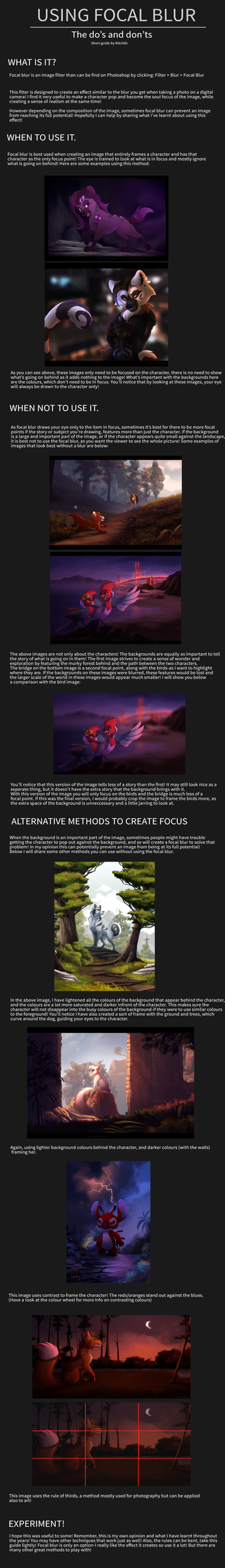 Using Focal Blur Effectively -TUTORIAL- by Kitchiki