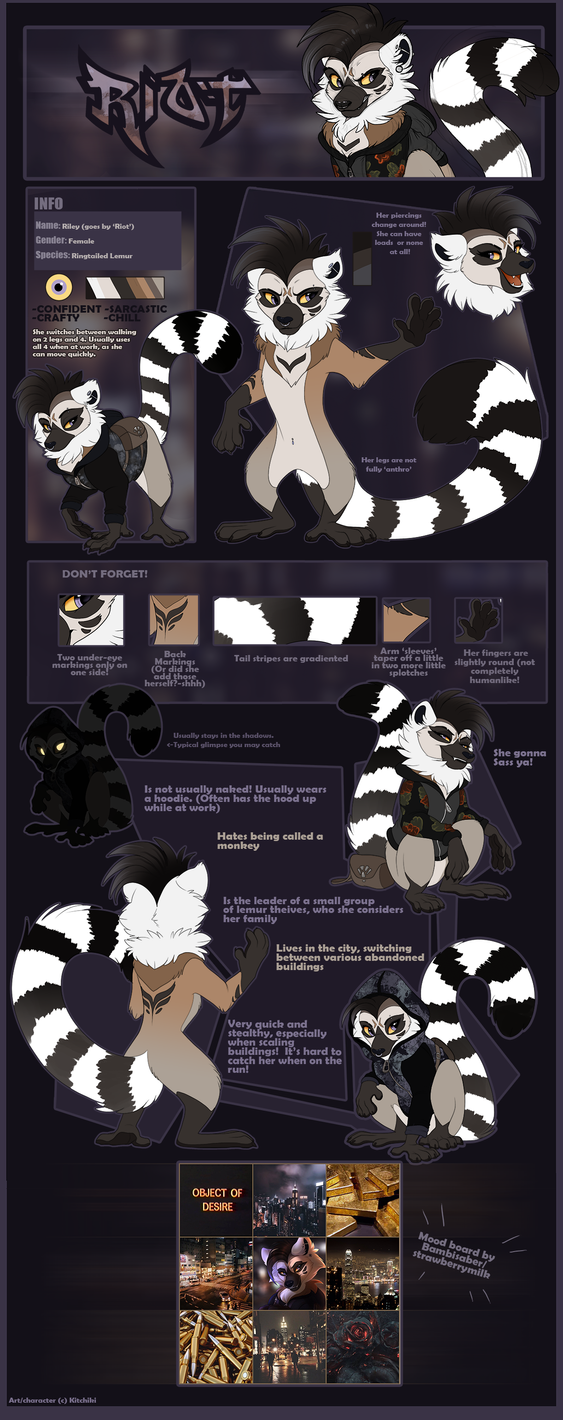 Riley 'Riot' Reference Sheet 2018 by Kitchiki