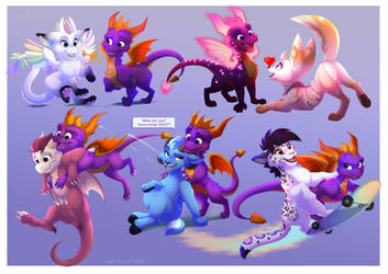 Spyro Meets his Fans by Kitchiki
