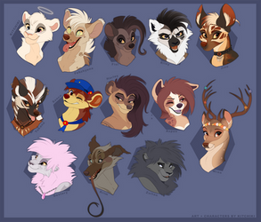 The Whole Gang (My OCs) by Kitchiki