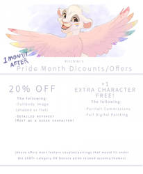 'AFTER PRIDE' COMMISSION DISCOUNTS (OPEN!!)