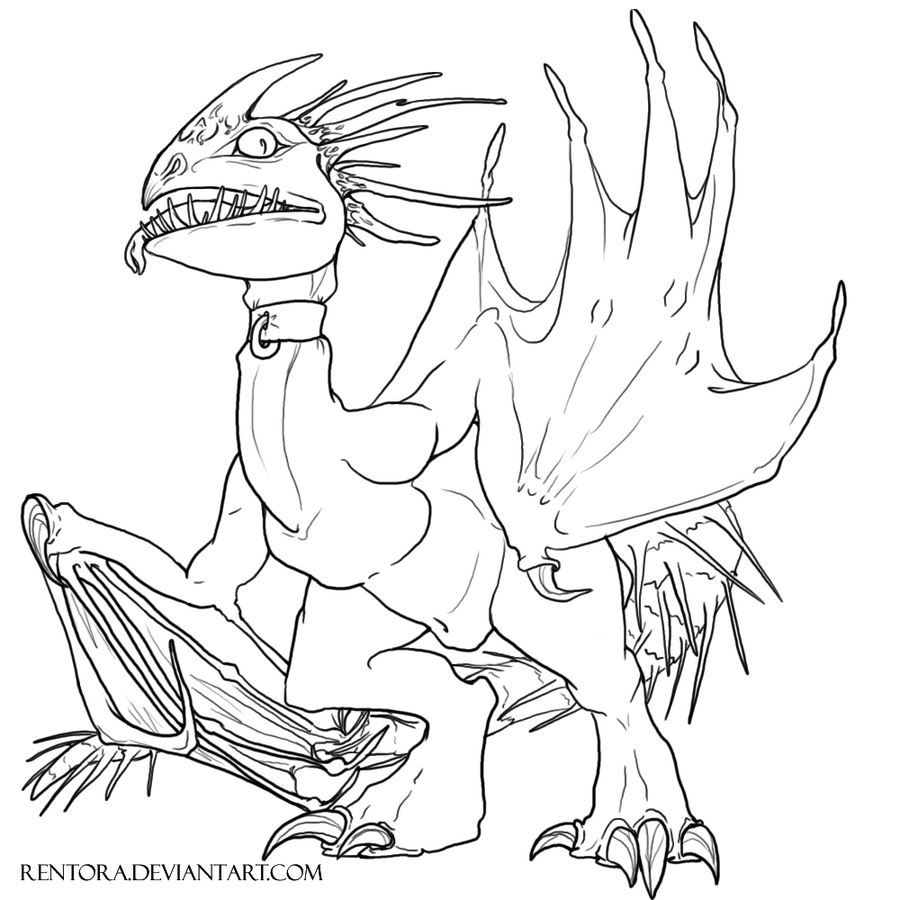 deadly nadder coloring page - deadly nadder free lineart by rentora on deviantart