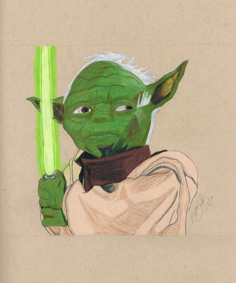 Yoda by KatSestoArt