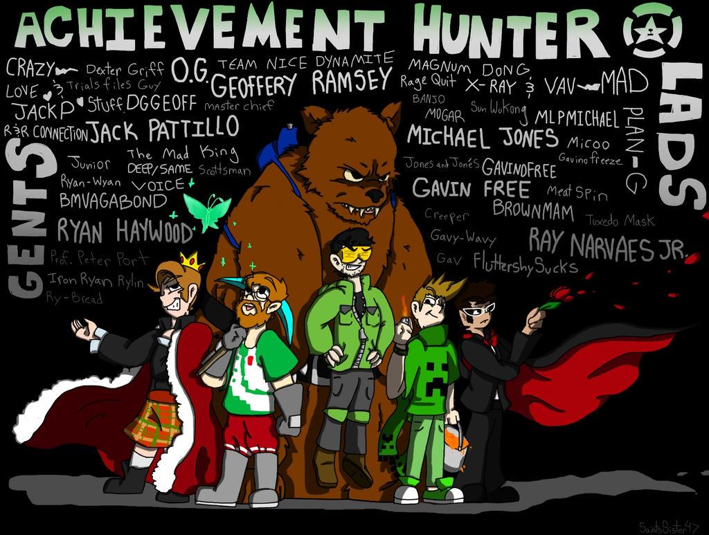 The Achievement Hunters by SaintsSister47 on DeviantArt