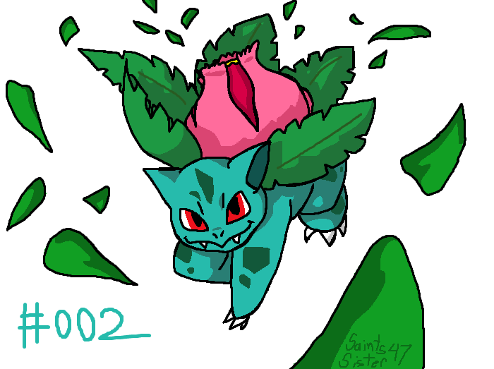 #002 Ivysaur by SaintsSister47