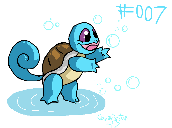 #007 Squirtle by SaintsSister47