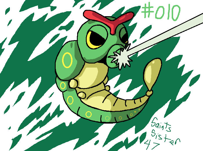 #010 Caterpie by SaintsSister47