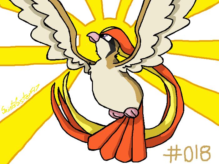 #018 Pidgeot by SaintsSister47