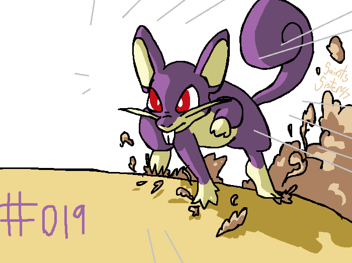 #019 Rattata by SaintsSister47