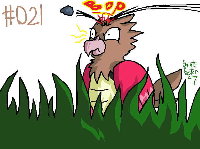 #021 Spearow by SaintsSister47