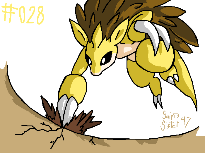 #028 Sandslash by SaintsSister47