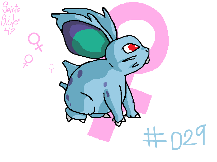 #029 Nidoran (female) by SaintsSister47
