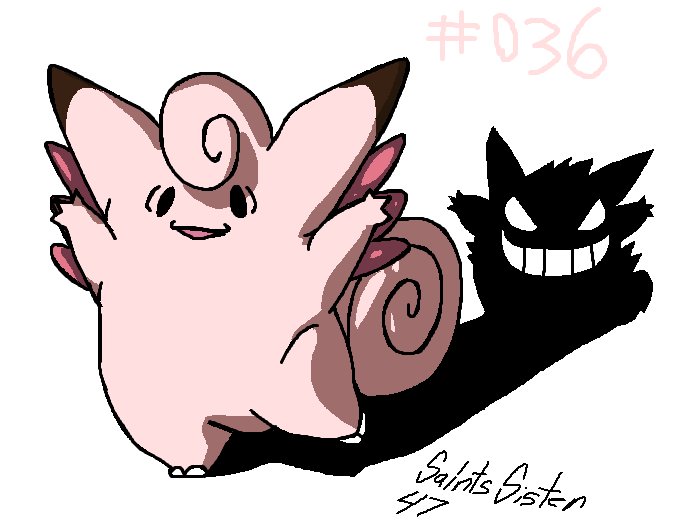 #036 Clefable by SaintsSister47