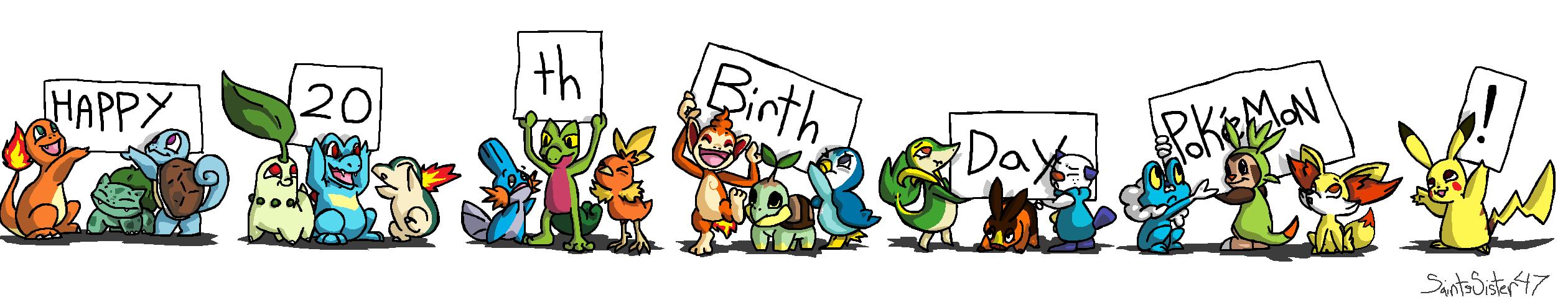 Happy 20th Birthday Pokemon! by SaintsSister47