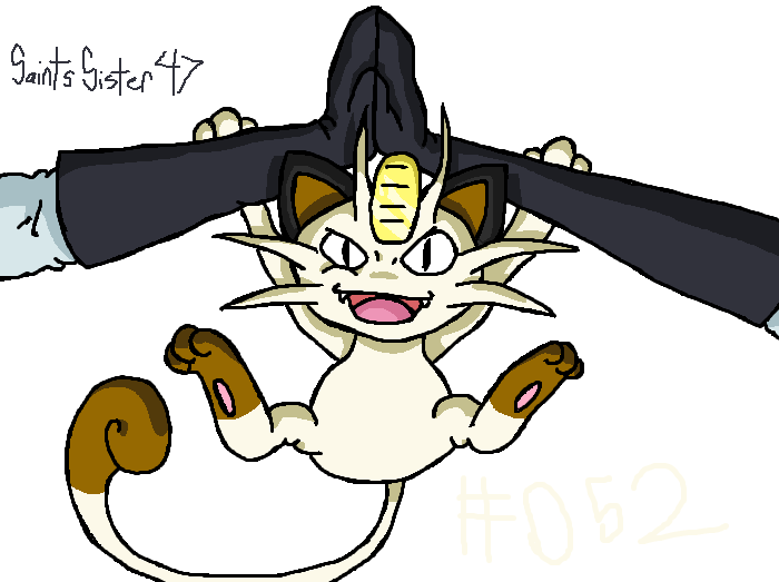#052 Meowth by SaintsSister47