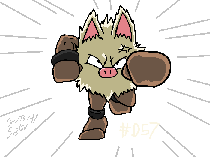#057 Primeape by SaintsSister47