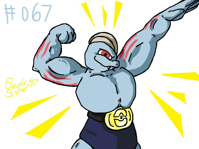#067 Machoke by SaintsSister47