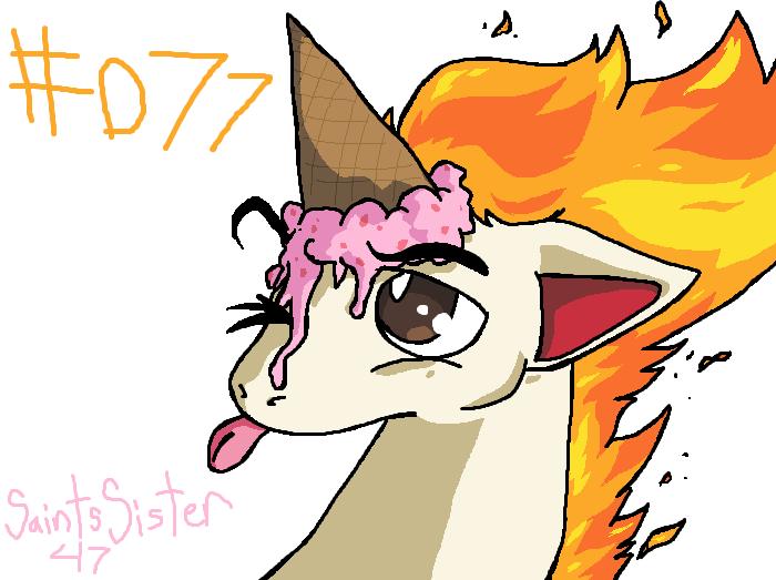 #077 Ponyta by SaintsSister47