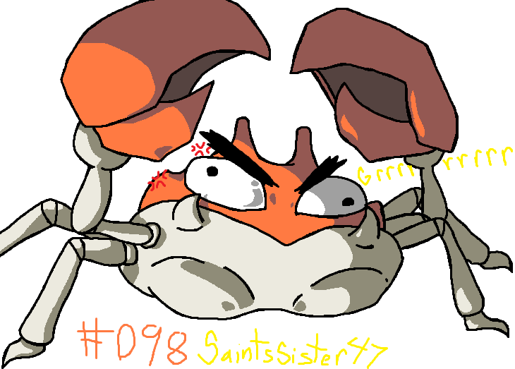 #098 Krabby by SaintsSister47