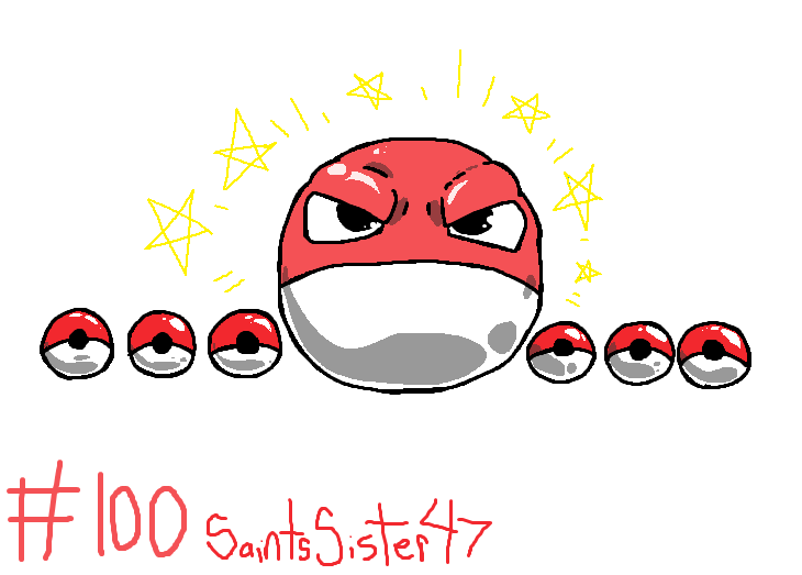 #100 Voltorb by SaintsSister47