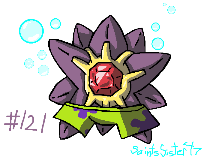#121 Starmie by SaintsSister47