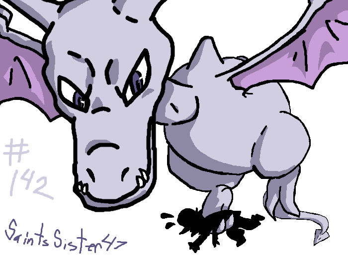 #142 Aerodactyl by SaintsSister47