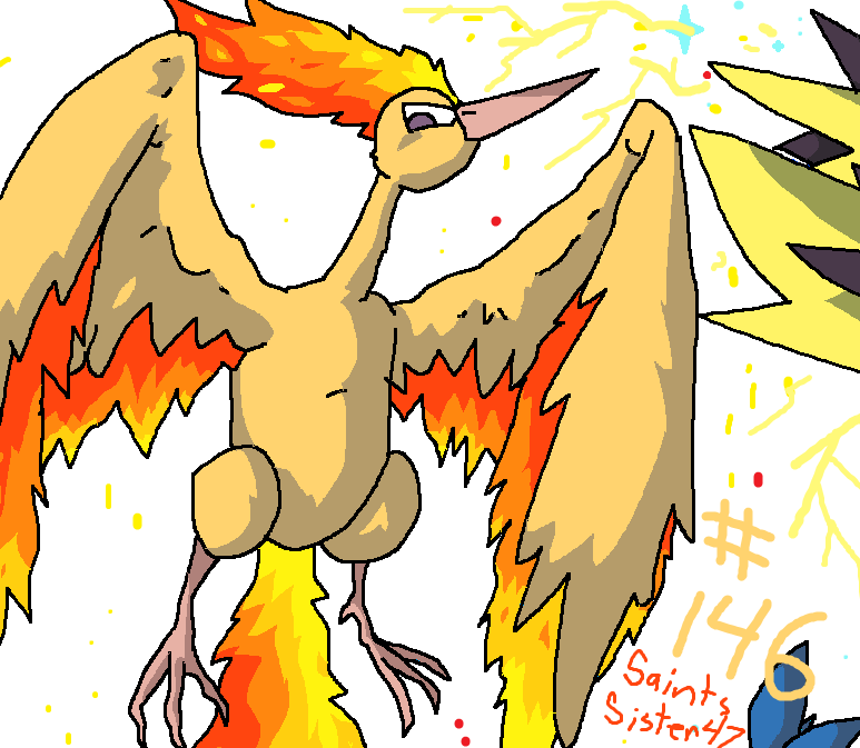 #146 Moltres by SaintsSister47
