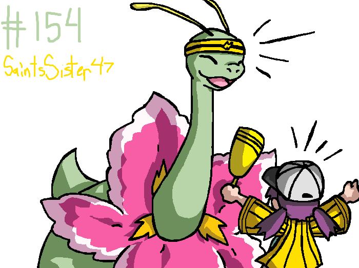 #154 Meganium by SaintsSister47