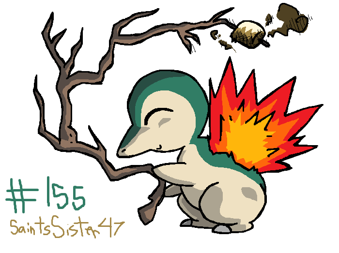 #155 Cyndaquil by SaintsSister47
