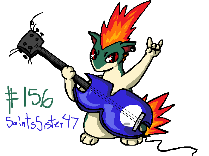 #156 Quilava by SaintsSister47