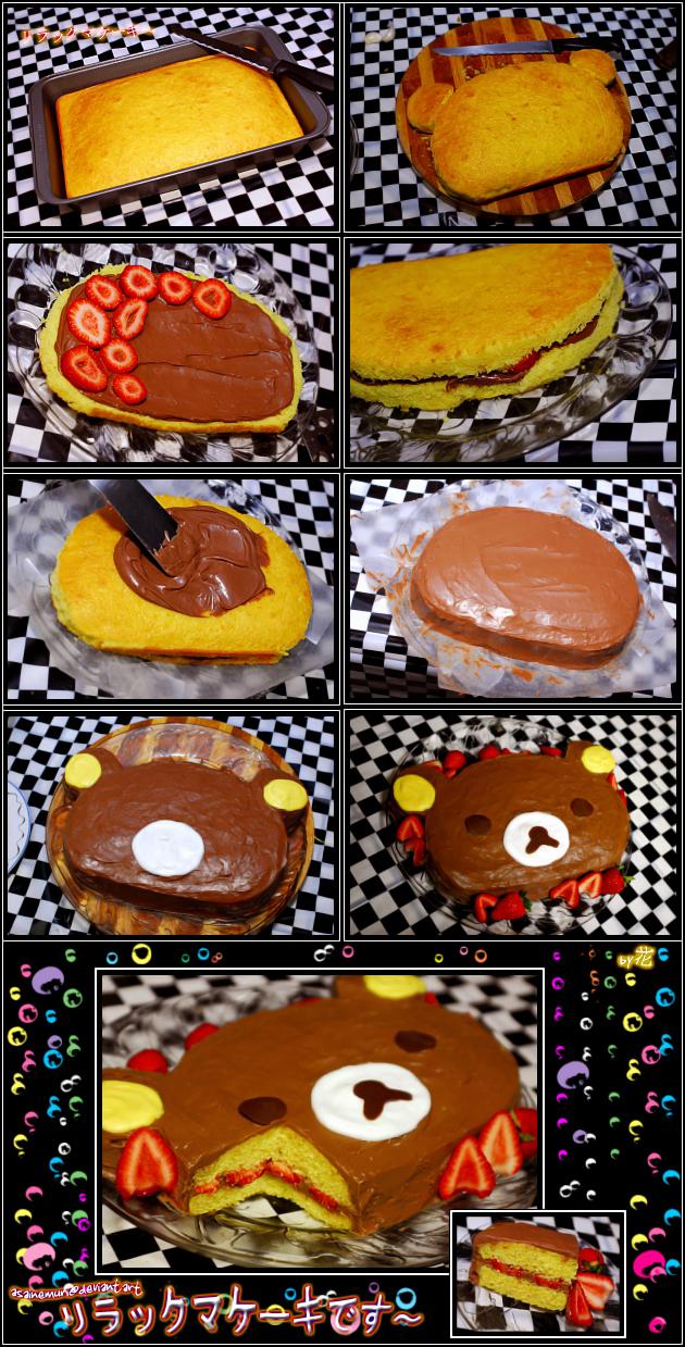 rilakkuma cake by asainemuri