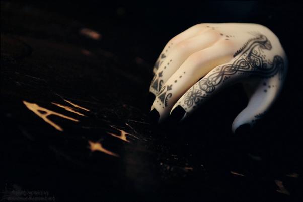 Impldoll Hand Tattoo: Henna by asainemuri