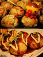 Takoyaki and TAKOCHU! by asainemuri