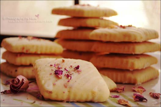 Rose Tea Shortbread Cookies