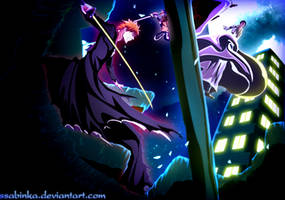 Ichigo and Aizen-Battle by Ssabinka