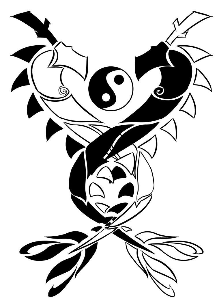 Dragon ying yang tattoo by kuzgond on DeviantArt