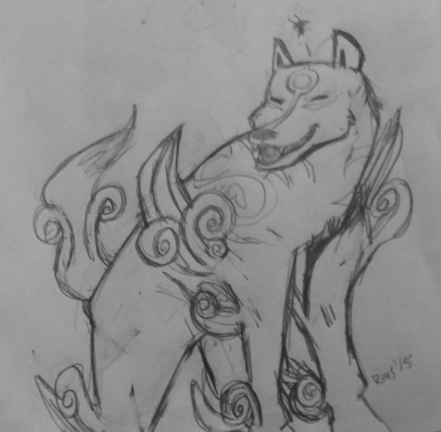 Amaterasu and Issun by rugdog