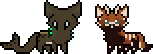 Akai and Ondyne - Free Pixel Base By CamomiIe-tea by BongoWolf