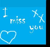 postit miss you by Tepara