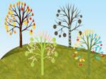 4 Seasons 1 Tree 1 Scene