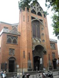 Red bricked church