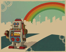 vintage toy- out of town robot by canonto