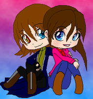 Reborn Steve And Claire Pixel by MadeInHeavenFF15