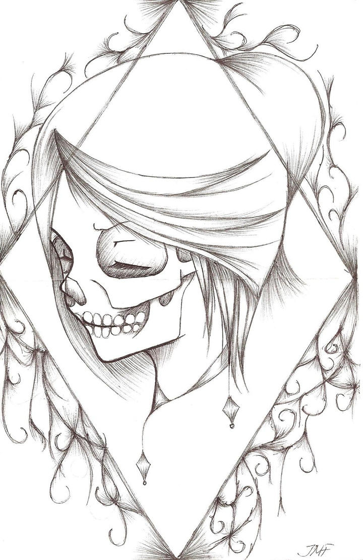 Skeleton Face Line Drawing : Umm skeleton face drawing by jojo on deviantart