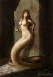 The captive naga by Bessonola