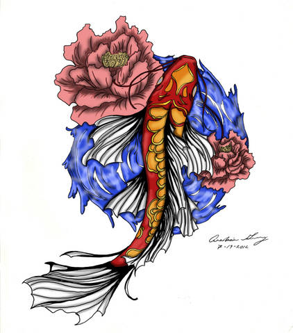Butterfly koi tattoo images galleries for Butterfly koi tattoo