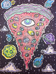 cosmic space pizza