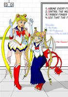The Return: Sailor Moon and Sailor Earth. by sunny-temple