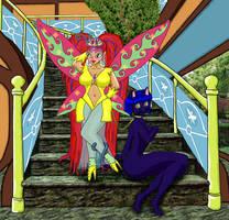 Titania and Katt err...  Ranma and Nabiki by sunny-temple